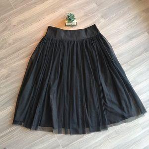 ✨Amazing Black Tully Midi Skirt Size Large